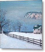 Winter Refuge Metal Print