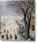 Winter Scene Metal Print by Hendrik Avercamp