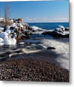 Winter Splash Metal Print
