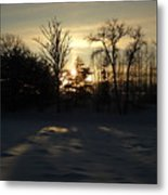 Winter Sunrise Shadows Metal Print