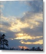 Winter Sunset - Lambton County Metal Print