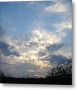 Winter Sunset One Metal Print