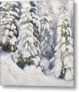 Winter Tale Metal Print by Aleksandr Alekseevich Borisov