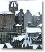 Winter Townscape Scotland Metal Print