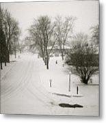 Winters Silence Metal Print