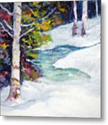 Winter's Solace Metal Print