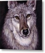 Wolf Buddy Metal Print