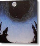 Wolf Moon Metal Print
