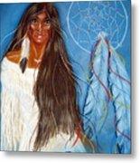 Wolf Woman Metal Print
