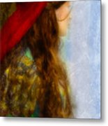 Woman In Medieval Gown Metal Print by Jill Battaglia