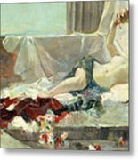 Woman Undressed Metal Print