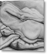 Woman With Pillows Metal Print