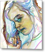 Women Body - Color Face2 Metal Print