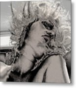 Women Body-metalic Face Metal Print