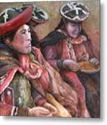 Women Of The Andes Metal Print