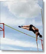 Womens Pole Vault Metal Print
