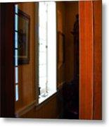Wood And Glass Door Metal Print