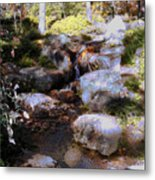 Wooded Blue Brook Metal Print