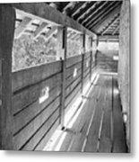 Wooden Balcony Metal Print by Gabriela Insuratelu