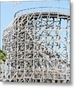 Wooden Coaster Metal Print