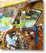 Woodie World Metal Print