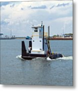 Workboat At Port Canaveral In Florida Metal Print