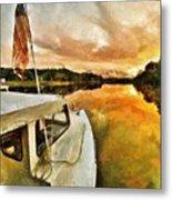 Workboats On San Damingo Creek Metal Print