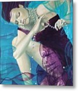 Working On A Dream - Loose Pearls Metal Print by Dorina  Costras