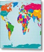World Map  Metal Print by Michael Tompsett