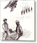 World War One Sketch No. 2 Metal Print