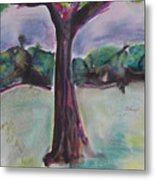 Wounded Tree Metal Print