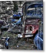 Wrecking Yard Study 13 Metal Print