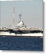 Wwii Aircraft Carrier Uss Yorktown Metal Print