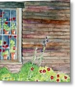 Wyeth House In Tempera Paint Metal Print