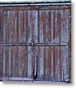 Wyoming Blue Doors Metal Print