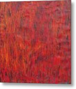 X3 A Study In Red And Orange Metal Print