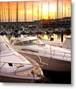Yacht Marina Metal Print