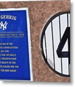 Yankee Legends Number 4 Metal Print