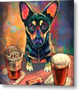 Yappy Hour Metal Print