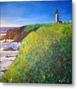 Yaquina Head Light Metal Print
