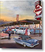 Yaw's Top Notch Drive In Metal Print by Mike Hill