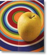 Yellow Apple  Metal Print