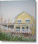 Yellow Beach House Wrightsville Beach Metal Print