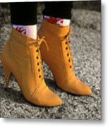 Yellow Boots Metal Print by Tony Ramos