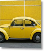 Yellow Bug Metal Print