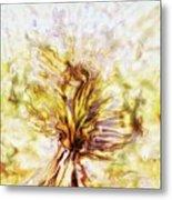 Yellow Burning Yucca Metal Print