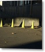 Yellow Cones Metal Print