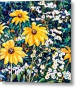 Yellow Daisies Metal Print