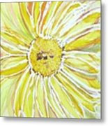 Yellow Daisy Portrait Metal Print