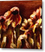 Yellow Daisys Metal Print